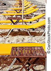 Deck chairs beach, Petani beack - Kefalonia