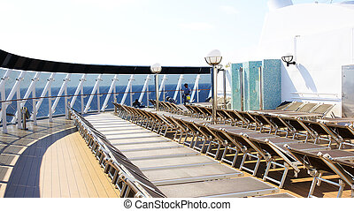 Deck chairs on a trasatlantic