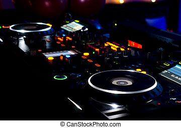 deck, drehscheiben, dj, musik- ausrüstung