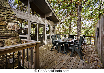 Deck in the fall