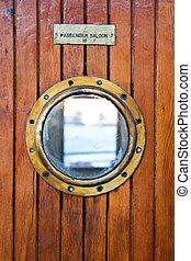 Deck light on thr passenger ferry