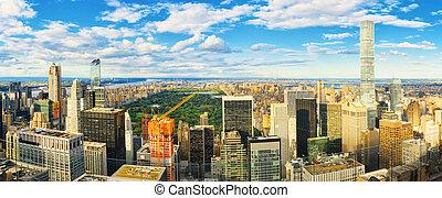 deck., obserwacja, skyscraper's, york., nowy, manhattan, ...