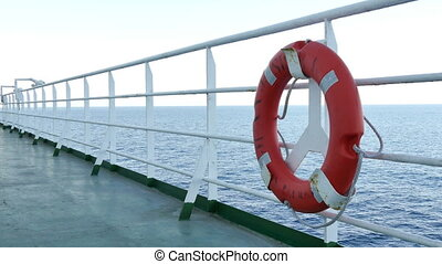 Deck of a Cruise Liner with Float