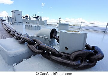 deck of battle ship