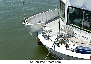 Deck of the yacht