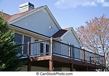 Deck on the Rear of House