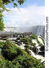 Deck over the Iguazu falls