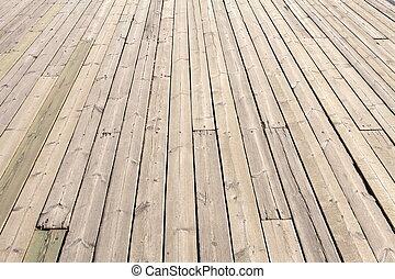 Deck - Old Wooden Planks on Boat Deck