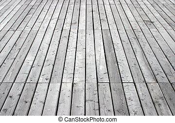 Deck - vertical - Wooden deck in perspective.