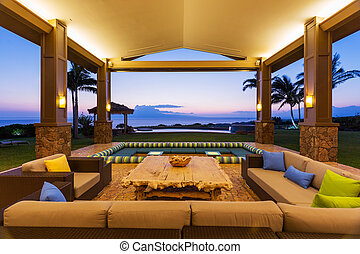 Deck with Sunset View - Beautiful Luxury Home, Exterior...