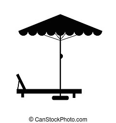 deckchair and umbrella illustration - deckchair and umbrella...