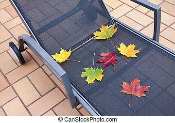 Deckchair at autumn