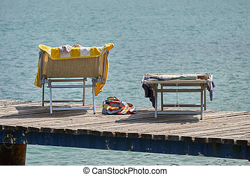 deckchair at lake