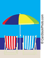deckchair, playa
