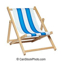deckchair, (with, ritaglio, path)