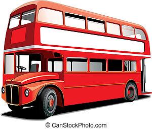 decker, doppio, autobus