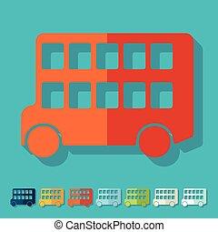 decker, doppio, design:, autobus, appartamento