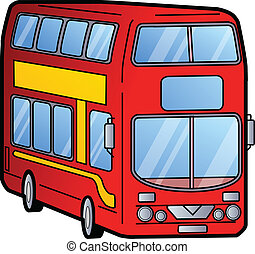 decker, double, autobus