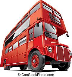 decker, double, londres, autobus