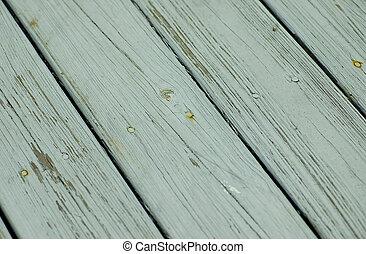 decking, bois