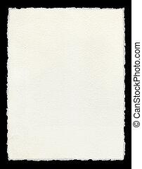 deckle, afilado, papel