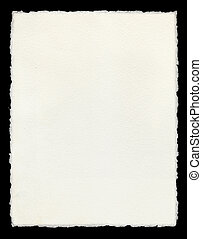 Watercolor paper with true deckled edges.