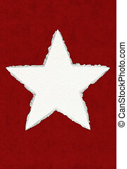 deckled, papper, stjärna