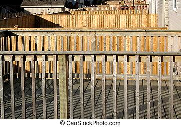 Decks - Back yard of new sub division