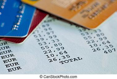 declaración de tarjeta de crédito