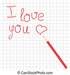 declaration of love and pencil - declaration of love on...