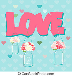Declaration of Love card design