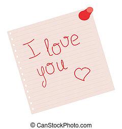 declaration of love on pink sheet