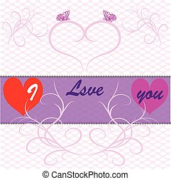 Declaration of Love - Postcard with a declaration of love...