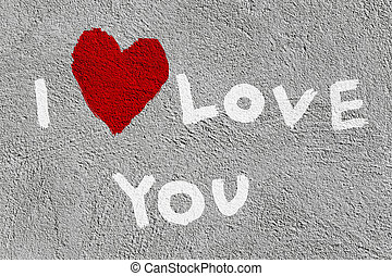 declaration of love written on the wall