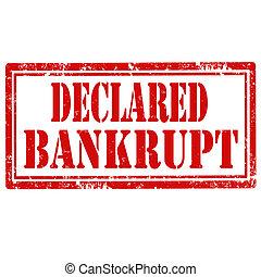 Declared Bankrupt-stamp