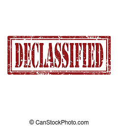 Grunge rubber stamp with word Declassified, vector illustration