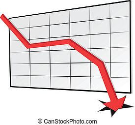 declinante, tendencia, gráfico