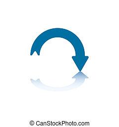 Decline Arrow - Downwards Curved Arrow With Arrowhead On The...