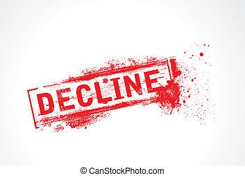 decline Grunge Text