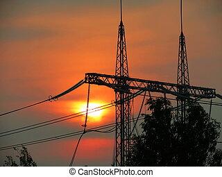 Decline over a power line