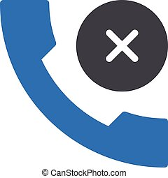 decline vector glyph colour  icon