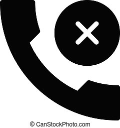 decline vector glyph flat icon