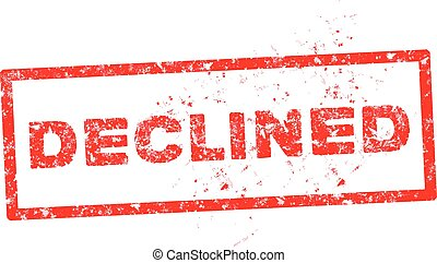 'DECLINED' red rubber stamp vector over a white background