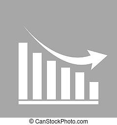 Declining graph icon