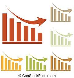 Declining graph sign