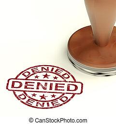 declino, rifiuto, francobollo, esposizione, rifiuto, negato...