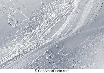 declive, desligado, nevado, snowboards, esquis, piste,...