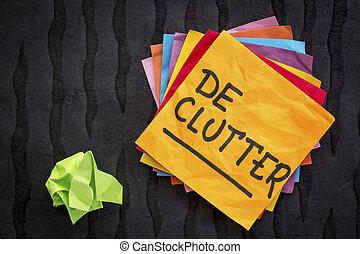 declutter, υπενθύμιση , συμβουλή , ή
