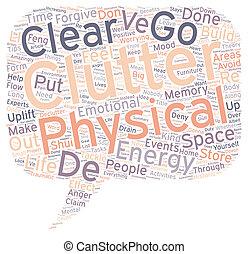 Declutter Your Life text background wordcloud concept