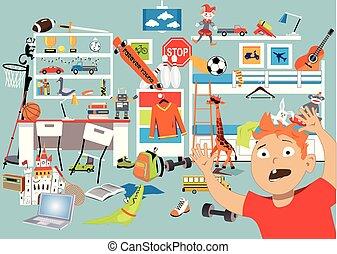 Decluttering a children room